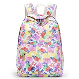 Ericdress Colorful Graffiti Print Canvas Backpack