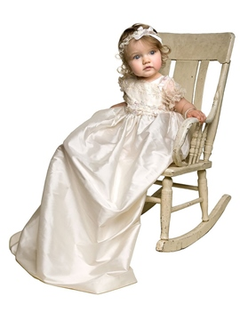 Ericdress Lovely Baby Girl Christening Gown with Headband