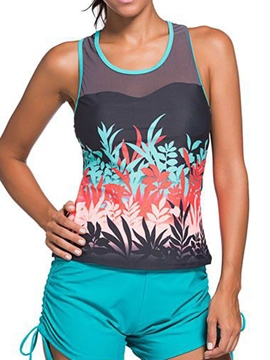 Ericdress U-collar Print /Striped Tankini Set