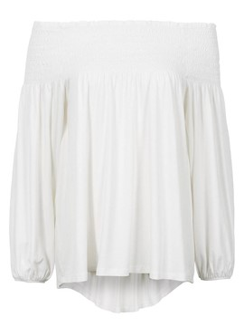 Ericdrss Off-Shoulder Pleated Loose T-Shirt