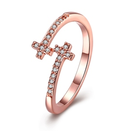 Ericdress Exquisite Diamante Adjustable Wedding Ring