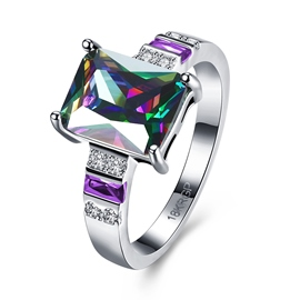 Ericdress Splendid Square Cut Amethyst Wedding Ring