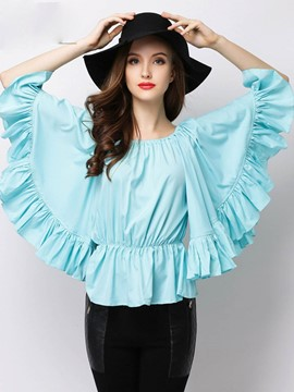 Ericdress Batwing Sleeve Off-Shoulder Blouse