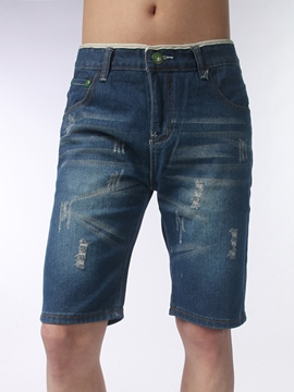 Ericdress Half Legs Denim Men's Shorts