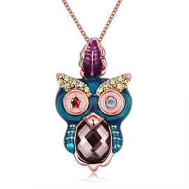 Ericdress Cute Owl Pendant Necklace for Women