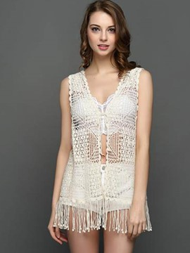 Ericdress Crochet Tassel Tank Top