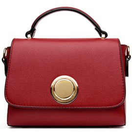 Ericdress Temperament Circle Magnetic Snap Handbag