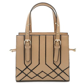 Ericdress Concise Geometric Pattern Patchwork Handbag
