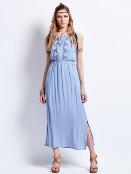 Ericdress V-Neck Geometric Pattern Embroidery Day Dress
