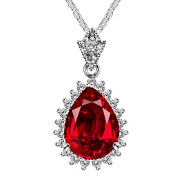 Ericdress Splendid Waterdrop Crystal Pendant Necklace