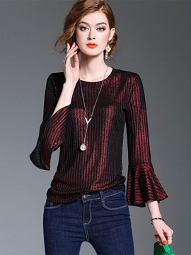Ericdress Flare Sleeve Light Luxury T-Shirt