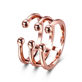 Ericdress Adjustable Rose Gold Plated Ring for Women