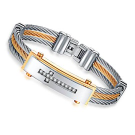 Ericdress Diamante Cross Hot Men's Bracelet