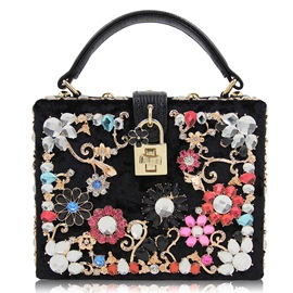 Ericdress High Grade Floral Rhinestone Evening Clutch