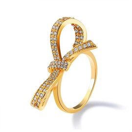 Ericdress Graceful 18k Gold Plating Flower Ring
