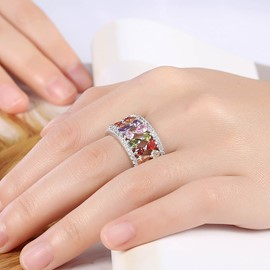 Ericdress Waterdrop Shape Rhinestone Ring for Women