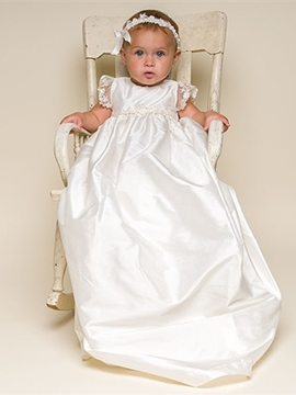 Ericdress High Quality Baby Girls Christening Gown with Headpiece
