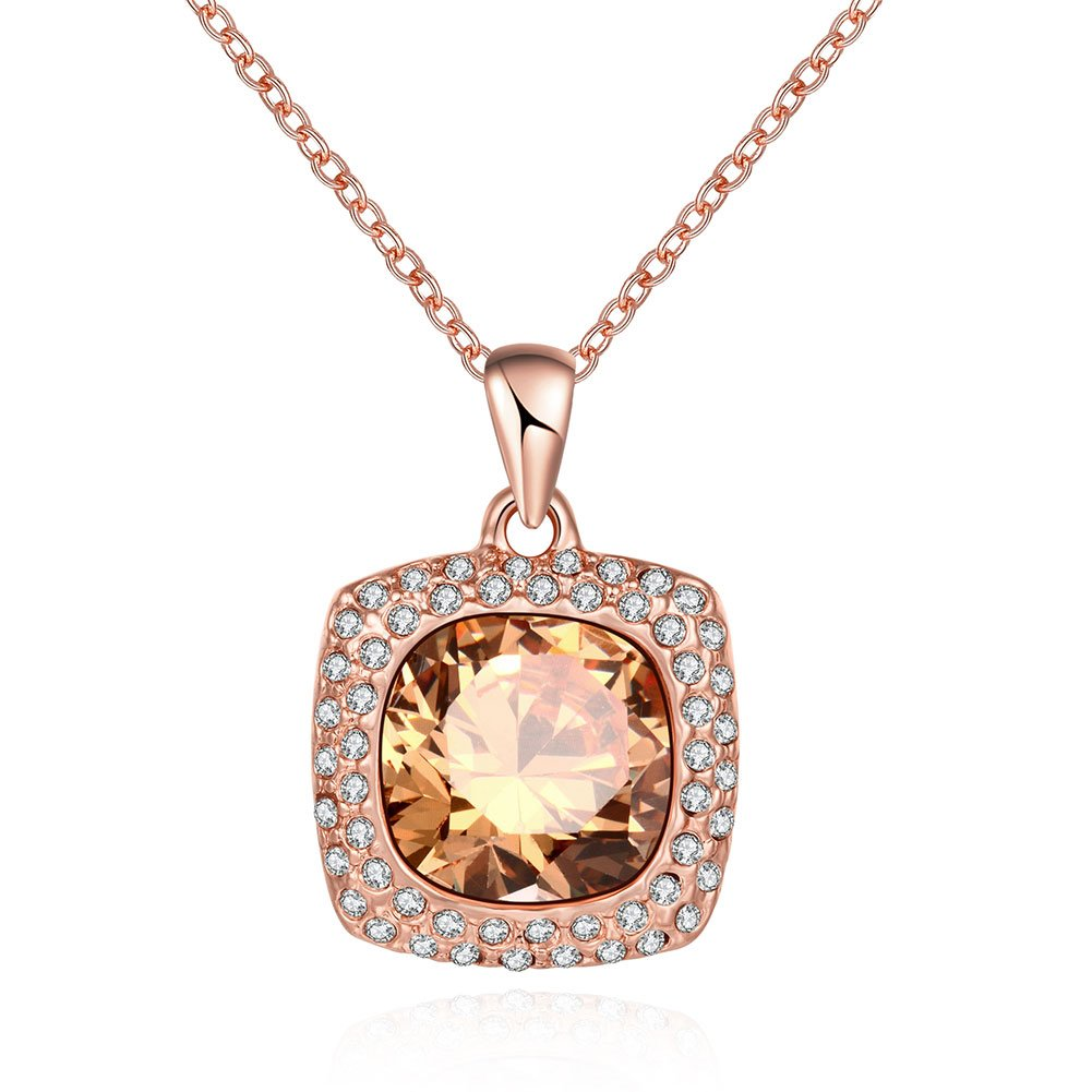 Ericdress Alluring Created Round Sapphire Pendant Necklace