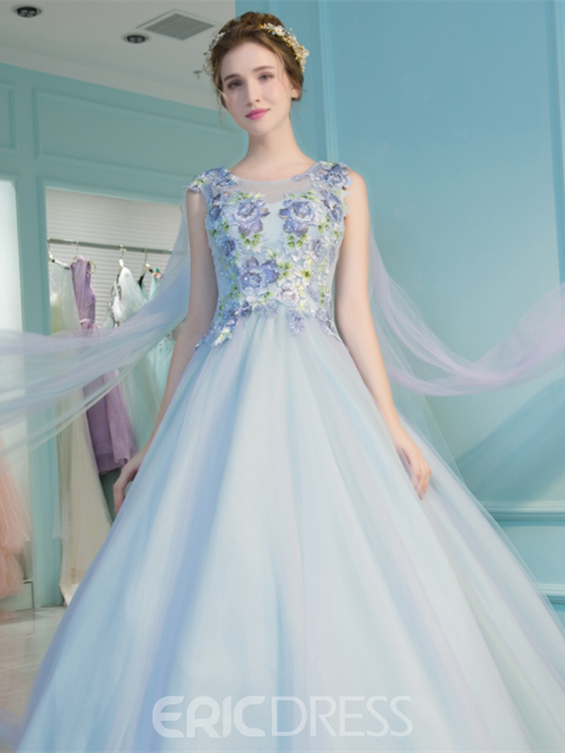 Ericdress Ball ärmellose Stickerei Quinceanera Kleid