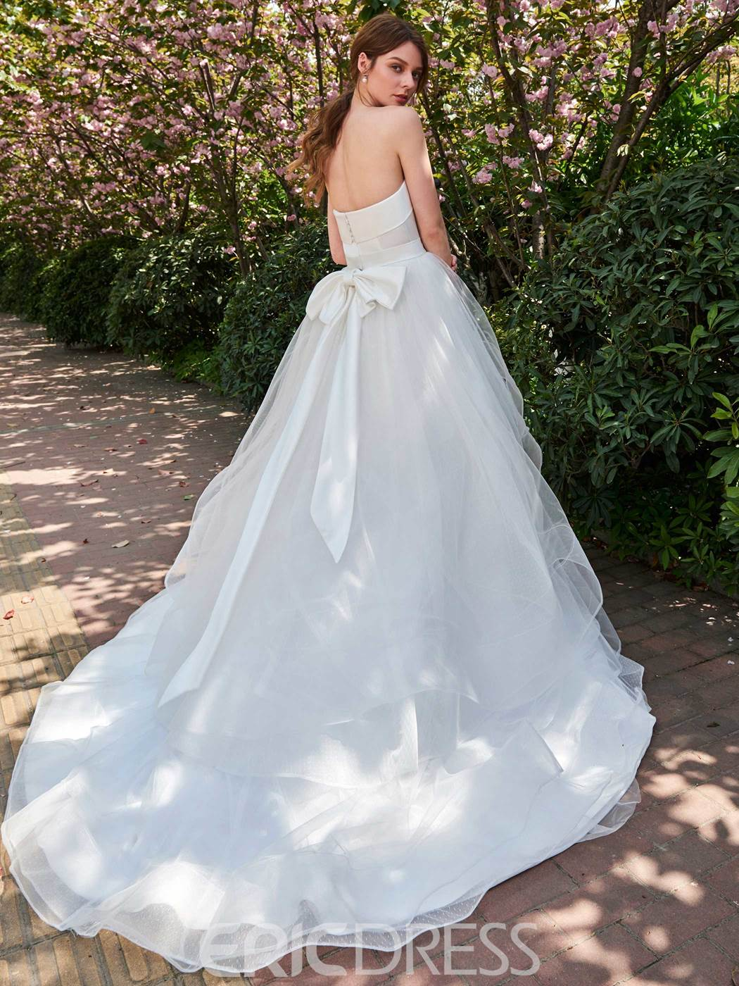 Ericdress Strapless Ball Gown Bowknot Wedding Dress