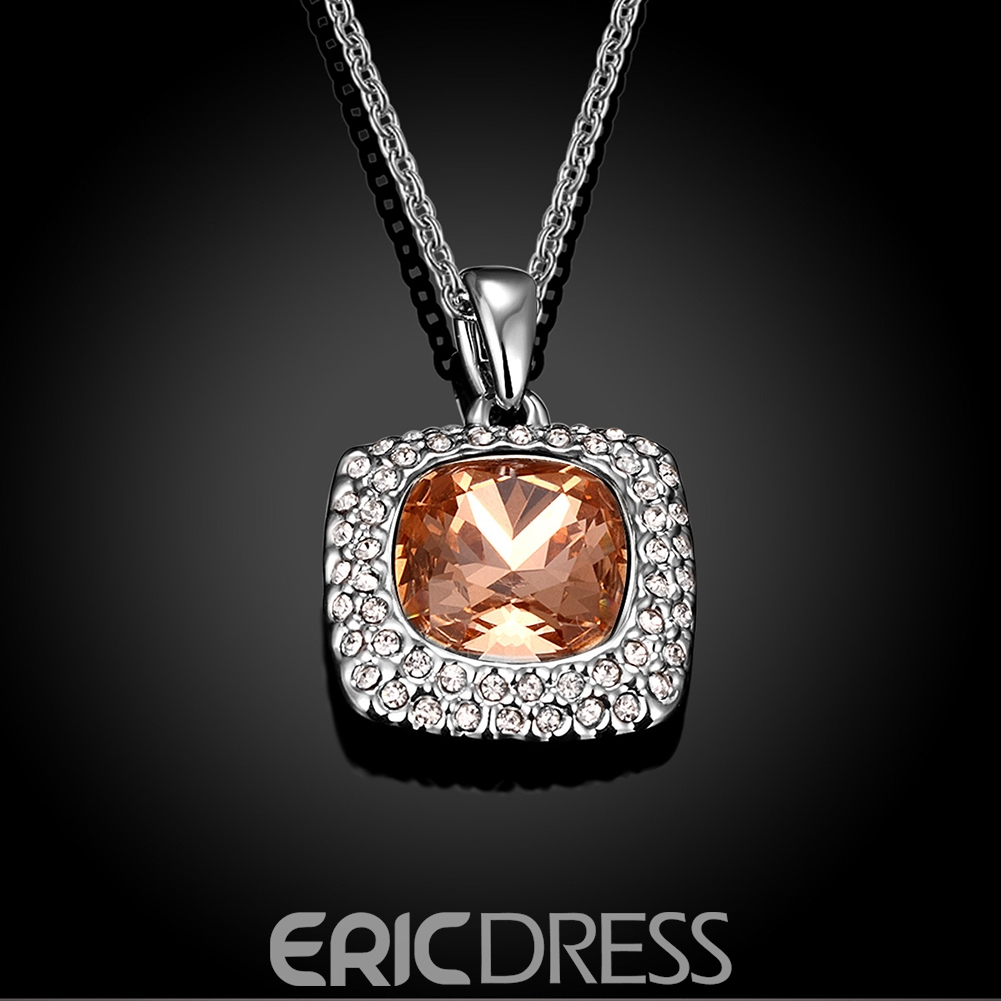 Ericdress Square Diamante Rose Gold Ring for Women