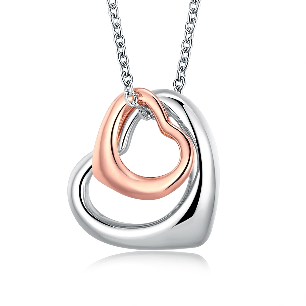 Ericdress Romantic Hollow Out Double-Heart Pendant