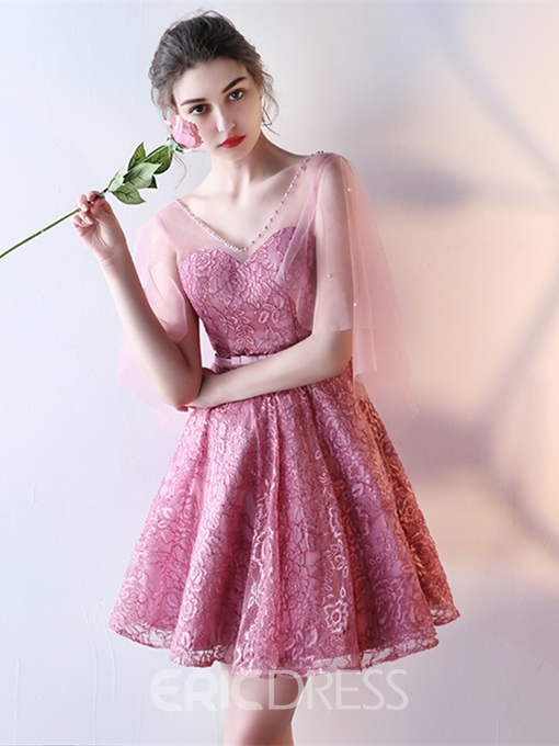 Ericdress Fancy A Line Short Lace Homecoming Dress