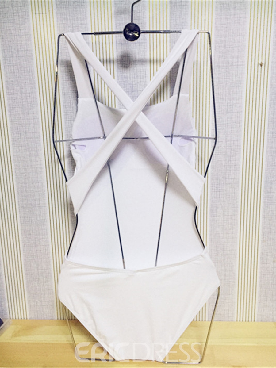 Ericdress Sexy Plain Backless One Piece Swimwear