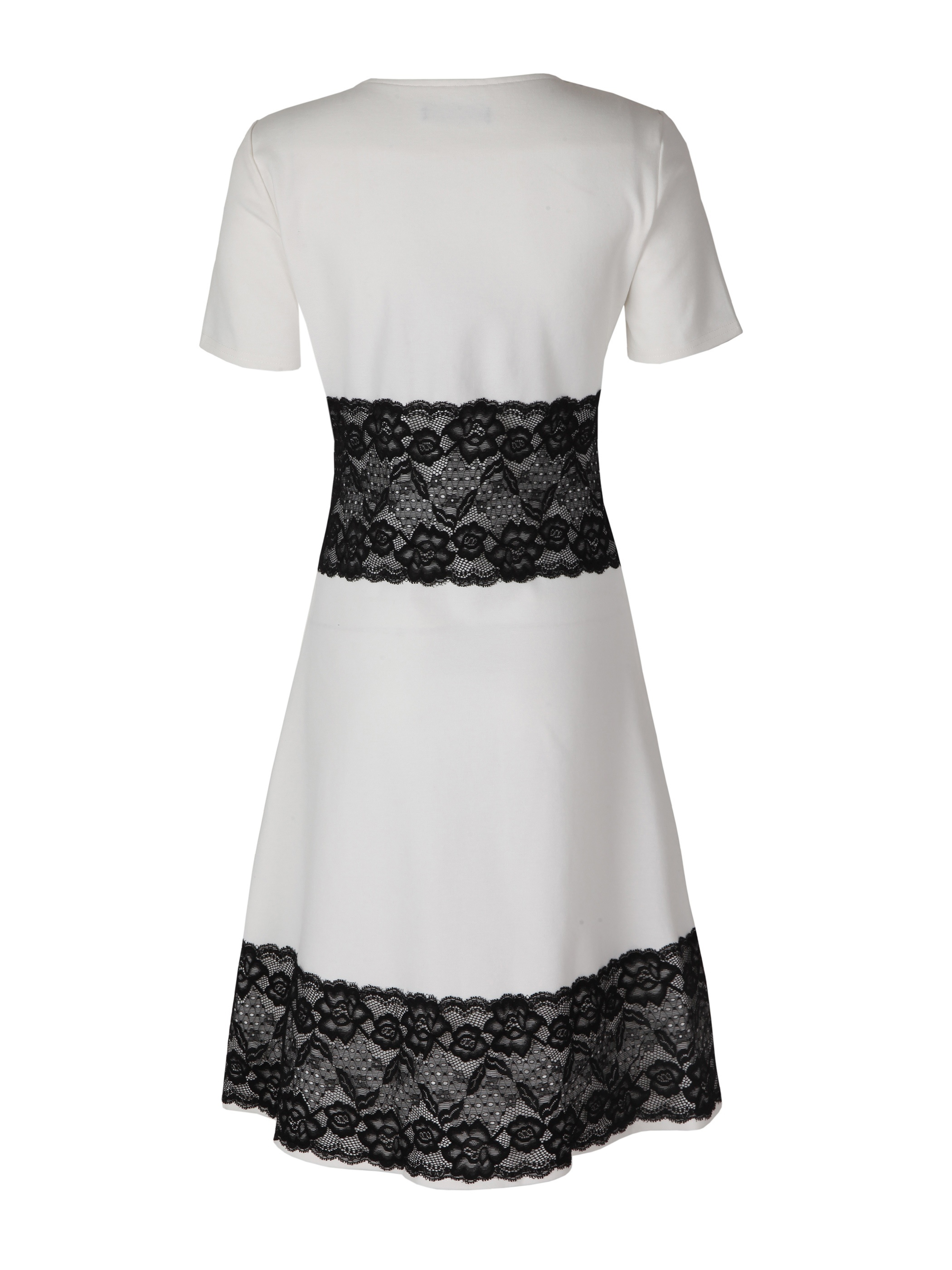 Ericdress Round Neck Lace Patchwork A-Line Dress