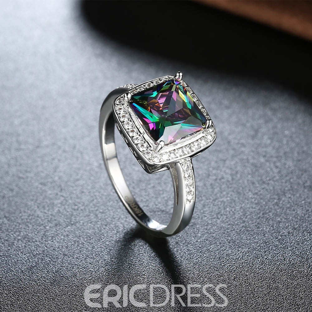 Ericdress Splendid Square Cut Women's Wedding Ring