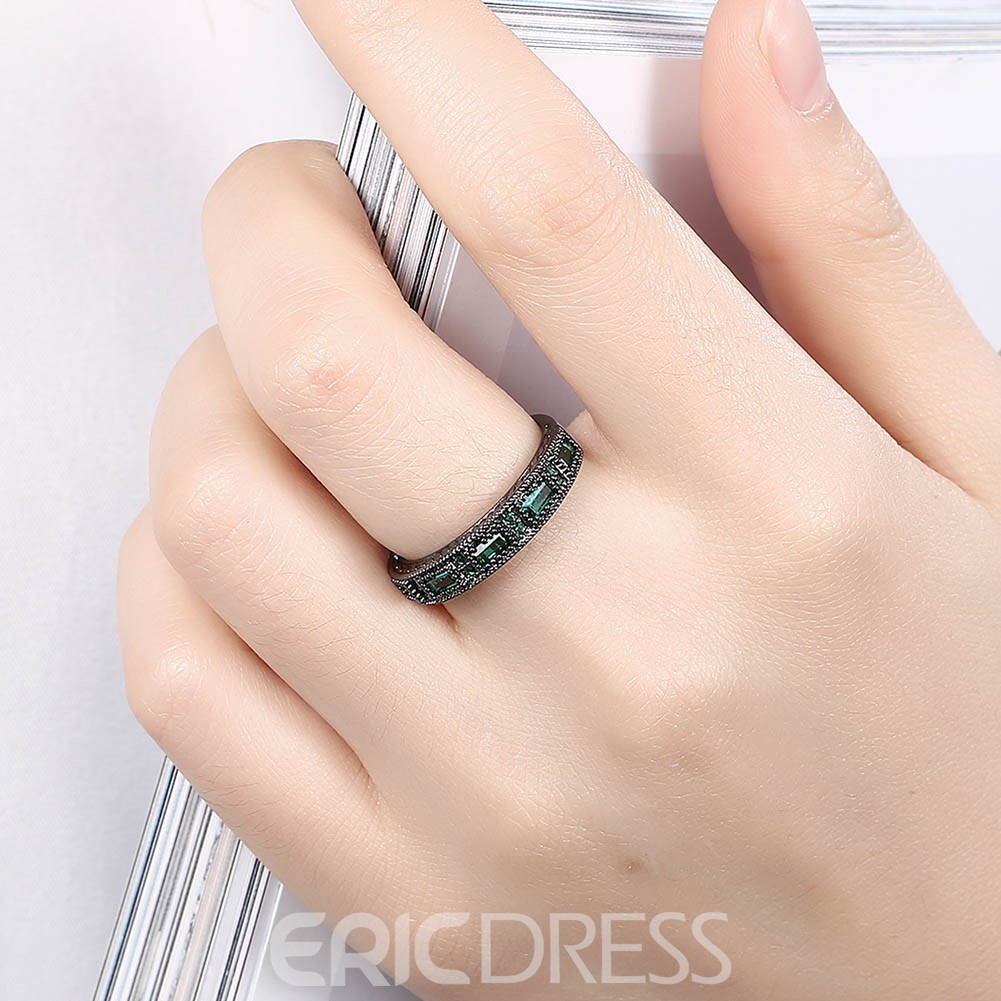 Ericdress Emerald Sapphire Exquisite Wedding Band