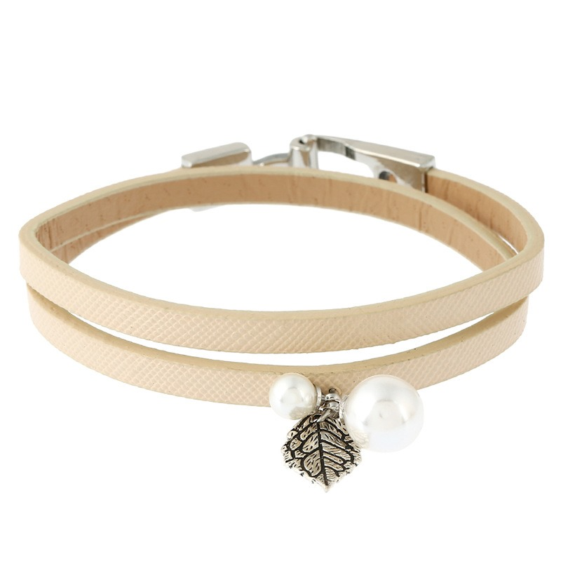 Ericdress Handmade Leather Rope Pearl Bracelet