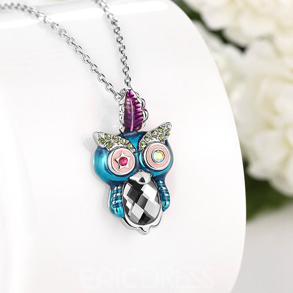 Ericdress Creative Owl Pendant Charm Necklace