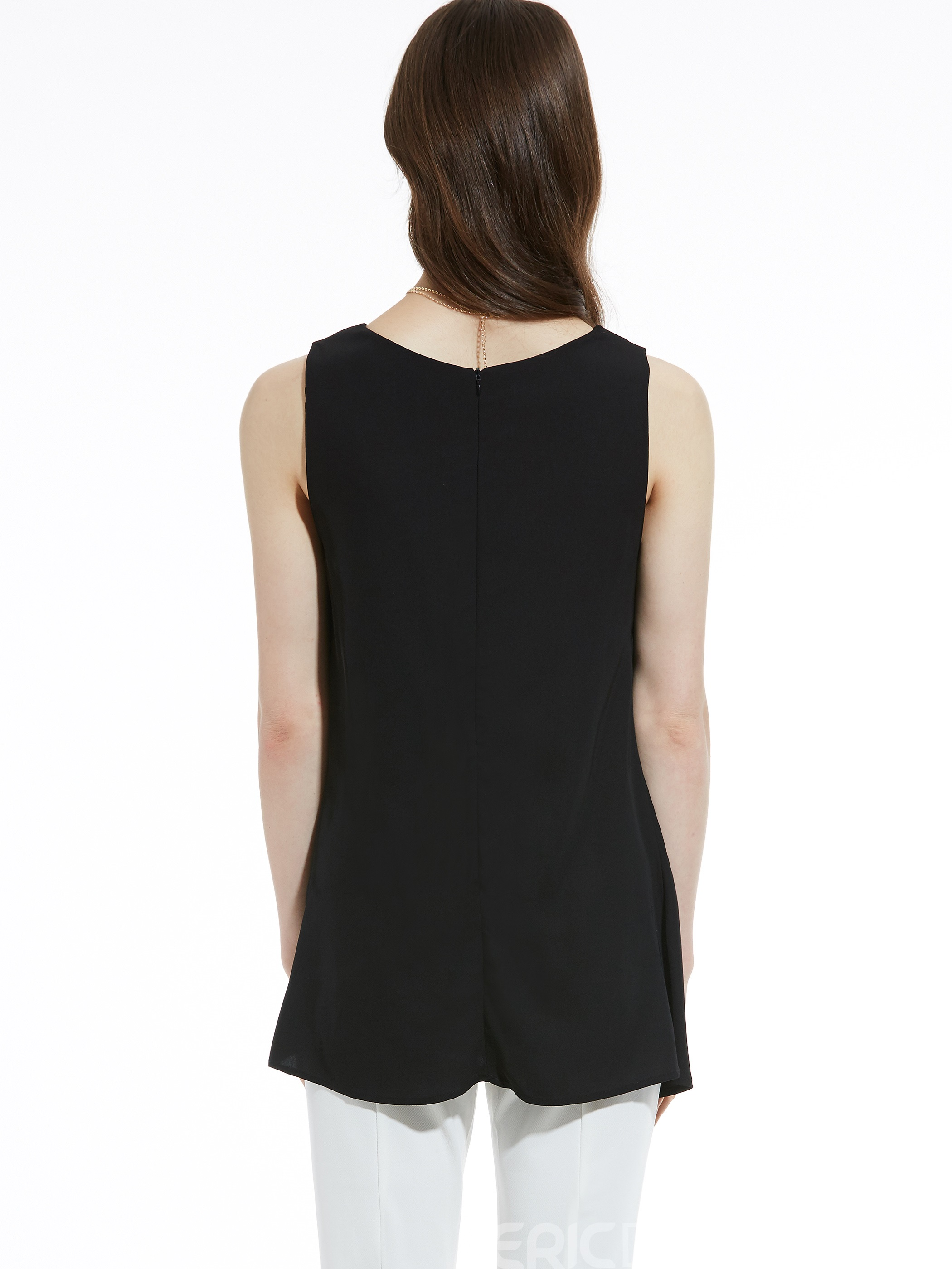 Ericdress Pleated Asymmetric Women's Tank Top
