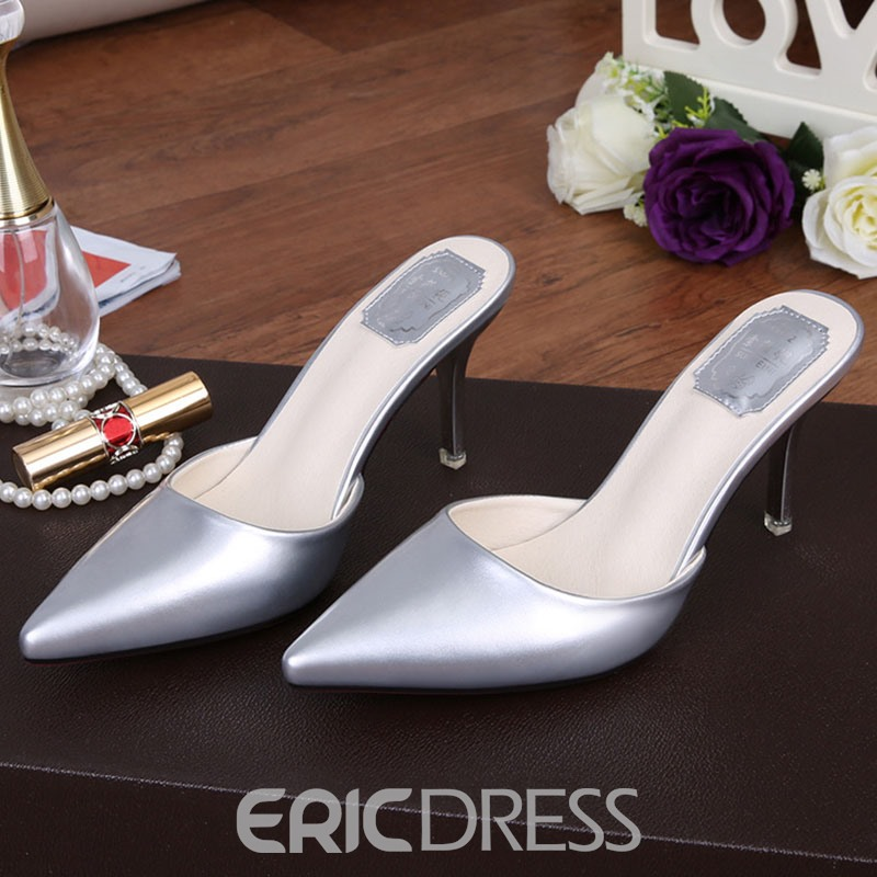 Ericdress OL PU Point Toe Mules Shoes