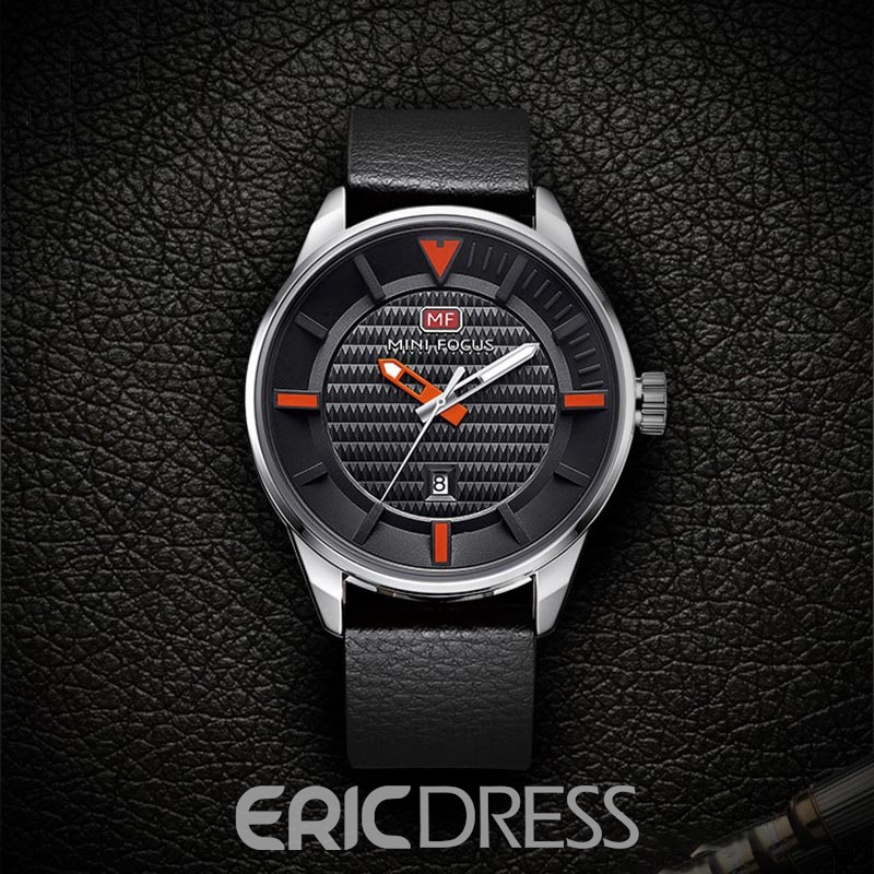 Ericdress JYY MINIFOCUS Leisure 3ATM Waterproof Men's Watch with Calendar