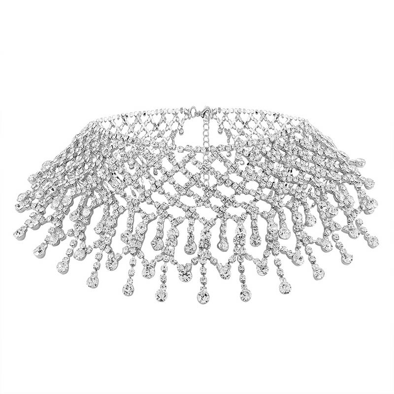Ericdress Bling Bling Diamante Hollow Out Necklace