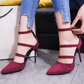 Ericdress Korean Suede Point Toe Stiletto Sandals