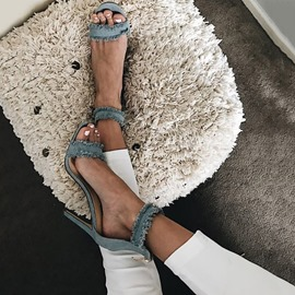 Ericdress Jeans Open Toe Stiletto Heel Sandals
