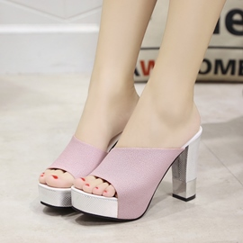 Ericdress Shining Open Toe Mules Shoes