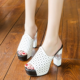 Ericdress Elegant Cut Out Open Toe Mules Shoes