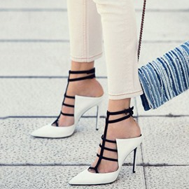 Ericdress Color Block Closed Toe Heel Sandals