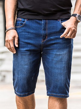 Ericdress Plus Size Denim Casual Men's Shorts