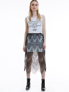 Hollow See-Through Lace Women's Skirt