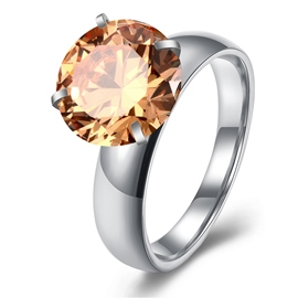 Ericdress Shining Round Cut Yellow Sapphire Wedding Ring