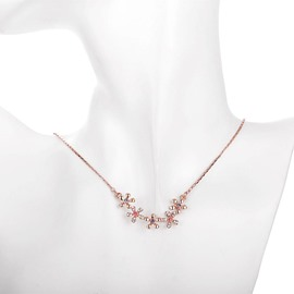Ericdress All Match Colored Rhinestone Flower Necklace