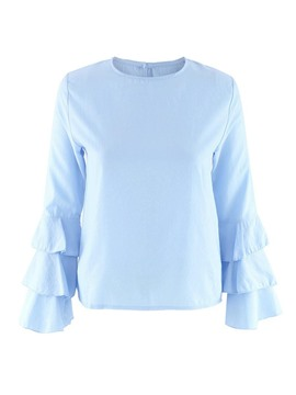 Ericdress Heap Sleeve Solid Color Blouse