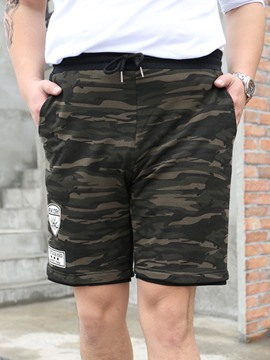 Ericdress Loose Camouflage Patched Casual Men's Shorts