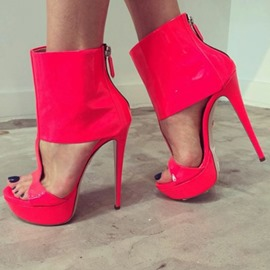 Ericdress Platform Zipper Stiletto Heel Sandals
