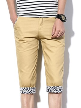 Ericdress Print Half Leg Casual Slim Men's Shorts